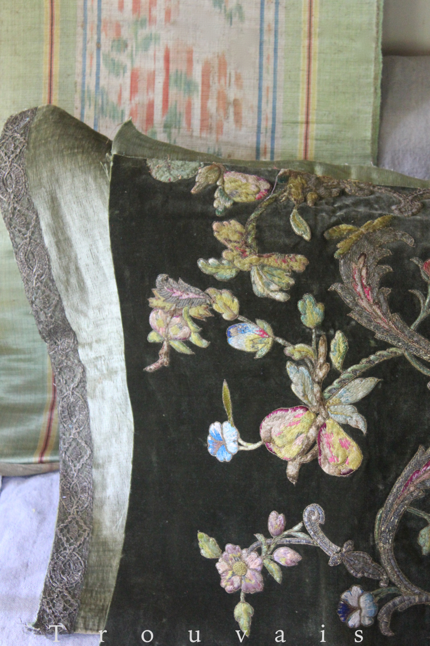 18th c Italian Embroidered Velvet